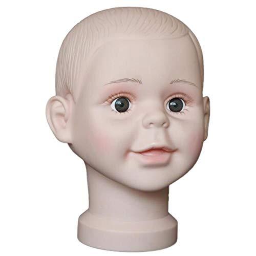PVC Tête de Mannequin Enfant Modèle Support Porte Perruque Lunettes de Soleil Affichage Chapeau Foulard - S