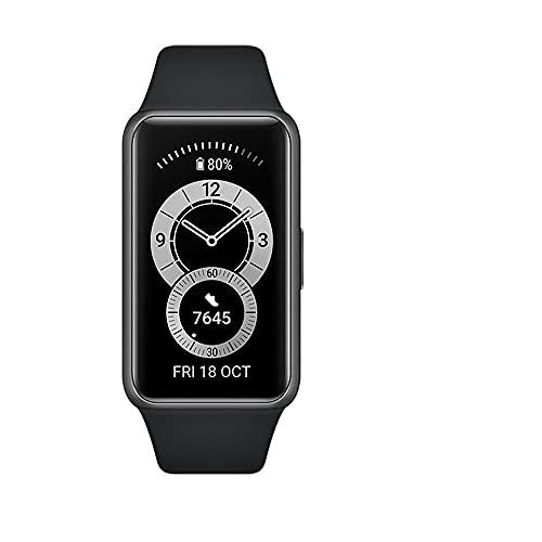 """HUAWEI Band 6 Smart Band Fitness Tracker, Touchscreen AMOLED 1.47"""" a Colori, Monitoraggio Battito Cardiaco, Sonno, Saturazione dell`Ossigeno, Resistente all'Acqua, Graphite Black"""