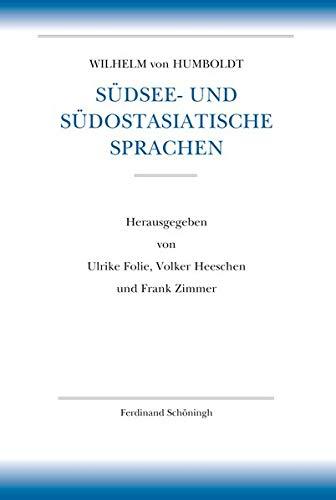 Südsee- und südostasiatische Sprachen: Vorarbeiten zu