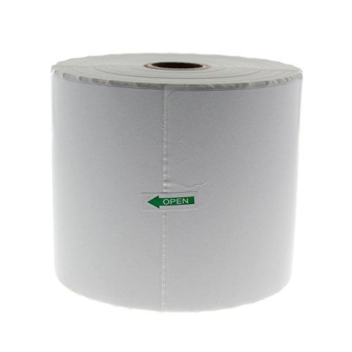 Thermoeetiketten, 10,2 x 15,2 cm, 500 Stück pro Rolle für Zebra ZP-500 ZP-450 ZP505 1 Roll weiß