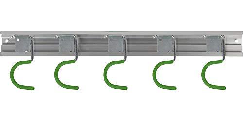CircumPRO Tool Bar Barra portautensili in Alluminio con 5 Ganci, Argento/Rosso, 51x9.5x1 cm