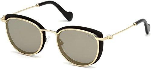 Moncler Unisex-Erwachsene ML0045 02C 50 Sonnenbrille, Schwarz (Nero Opaco/Fumo Specchiato)
