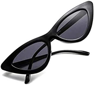 Retro Vintage Narrow Cat Eye Sunglasses for Women Clout Goggles Plastic Frame - 2724638061292