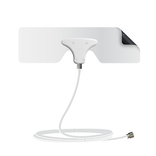 Mohu Leaf Metro TV Antenna, Indoor, Portable, 30 Mile Range, Original Paper-thin, Reversible, Paintable, 4K-Ready HDTV, 10 Foot Detachable Cable, Premium Materials for Performance, USA Made, MH-110543