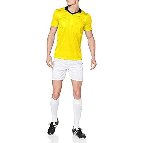 adidas REF18 JSY Camiseta de Manga Corta, Hombre, Shock Yellow, L