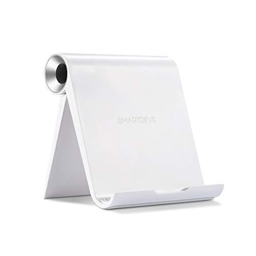 SmartDevil Soporte Tablet, Multiángulo Soporte Ajustable para Tablets para Pad Pro11/10.5'/9.7', Pad Mini 5 4 3 2 Pad Air 3 2 1 Nintendo Switch Galaxy Tab A / S5 / S4 Huawei Lenovo Tablets - Plata