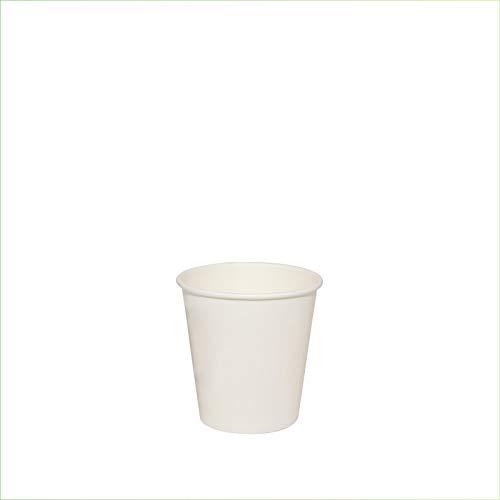 Palucart 100 Bicchieri in Carta per Caffe 75ml Colore Bianco biodegradabili cartoncino
