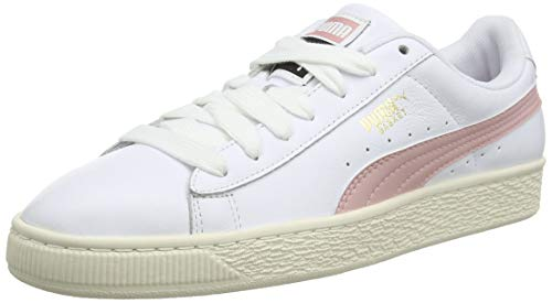 Puma Unisex-Erwachsene Basket Classic LFS Sneaker, White-Bridal Rose, 42 EU