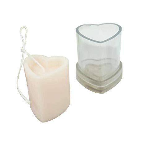 Stampi per candele per fabbricazione di candele, fabbricazione di candele fai-da-te, stampi per candele a forma di cuore Forniture per stampi per candele in plastica trasparente per cena di nozze