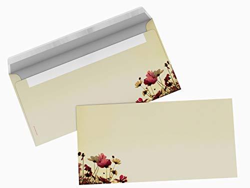 Briefumschläge mit Motiv SUNNY FLOWERS 10er-SET DIN LANG
