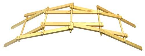 Leonardo Da Vinci Bridge Kit - STEM Learning - Explore Engineering Principles, Gravitational & Lateral Forces- Garage Physics by Eisco