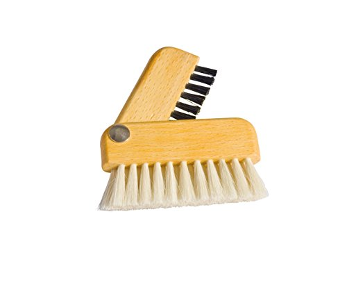 Price comparison product image Redecker Goat Hair / Natural Pig Bristle Laptop Brush with Oiled Beechwood Handle,  3-Inches