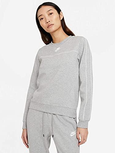 Bild Nike Crew Millenium Sweatshirt dk Grey Heather/White XS (Dk Grey Heather/White)