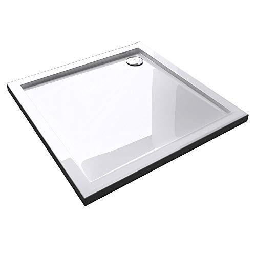 Duschwanne Duschtasse Faro in weiß, Form: Quadratisch, BTH: 75x75x4cm