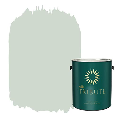 KILZ TRIBUTE Interior Matte Paint and Primer in One, 1 Gallon, Restful Retreat (TB-62)