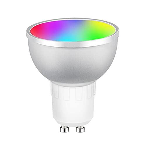 Davitu Remote Controls - GU10 Tuya Zigbee 3.0 Smart LED Light Bulb 5W RGB CW Spotlight Dimmable Timer Function Lamp Work With Alexa Echo Google Home - (Color: 1pc)