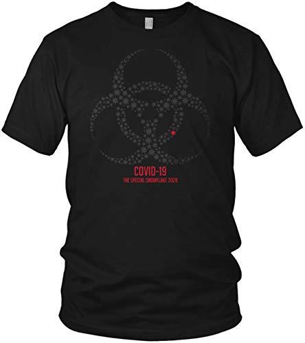 COVID-19 – The Special Snow Flake 2020 Coronavirus divertente motto maglietta da uomo e da uomo Nero/rosso M