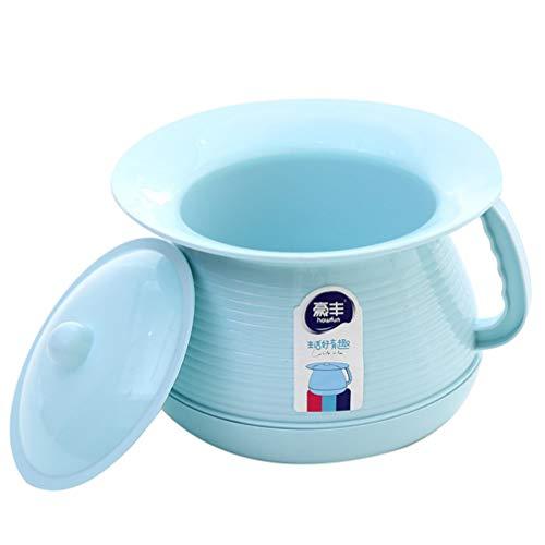 Artibetter inodoros portátiles macetas de plástico para niños mujeres embarazadas cubos de orina para mujeres adultos con tapas macetas de orina urinarios escupidera (azul)