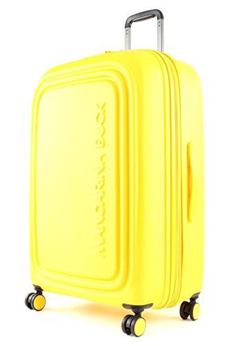 Mandarina Duck LOGODUCK + TROLLEY LARGE EXP / DUCK YELLOW - Luggage- Suitcase Unisex - Adulto, Duck Yellow, Un tamaño - P10SZV33-DUCK YELLOW