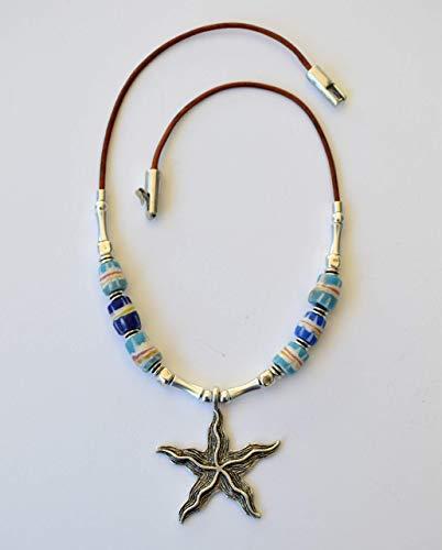 Gargantilla plata handmade con colgante estrella de mar, regalo para mujer
