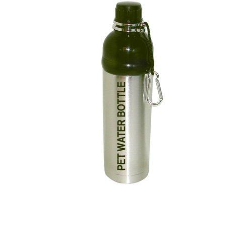 DogPetWaterBottles 300596 Hundetrinkwasserflasche 750 ml, silber