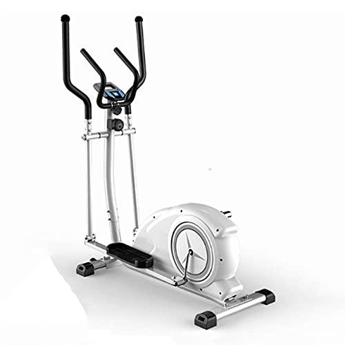 YXZQ Entrenador elíptico, Bicicleta elíptica Entrenador elíptico Bicicleta estática para Ejercicios Máquina para Caminar por el Espacio Equipo silencioso de Control magnético para el hogar, Blanco