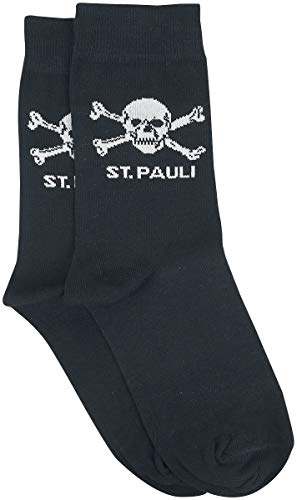 FC St. Pauli - Totenkopf Socken, schwarz, Grösse L