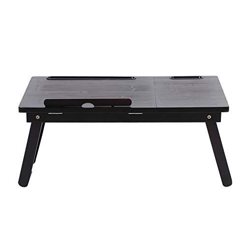 Les-Theresa portátil de bambú plegable ajustable mesa de escritorio de la computadora soporte para computadora portátil para sofá cama uso de oficina