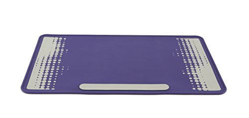 Heathrow Scientific HS120507 Lab Mat, HS120507, Silicone benchtop Protector, Side One Purple, Side Two Purple with Grey Design