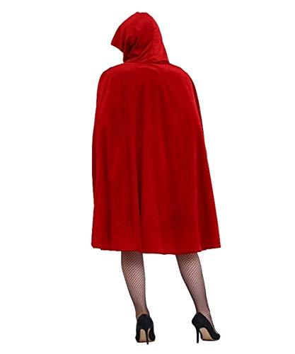 xiaoqian Capa Caliente de Halloween de la Venta Las Mujeres Forman Caperucita rol Sombrero Capa de Halloween Anime Girls Ropa (Color : Red, Size : XL)