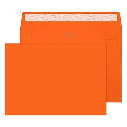 Creative Colour 45305 Farbige Briefumschläge Haftklebung Kürbis Orange C5 162 x 229 mm 120g/m² | 25 Stück