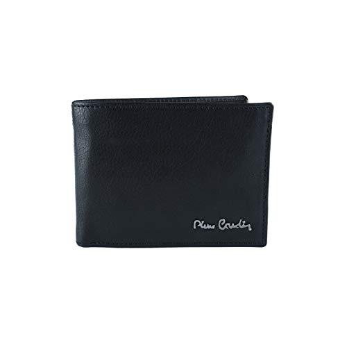 Pierre Cardin, cartera negra para hombre, cuero auténtico, tarjetero y monedero, caja de regalo Nero Con Protezione RFID Con Protezione RFID