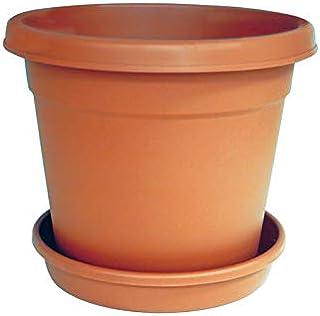 Cosmoplast Flower Pot Ter Round 12 Inch, Brown - IFFP12028