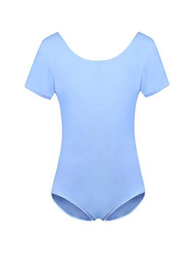 Hawiton Maillot de Gimnasia Ritmica niña 2-10 Años,algodón Elástico de Ballet Body Leotards Gymnastics