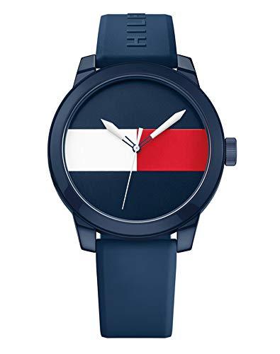 Tommy Hilfiger Herren Analog Quartz Uhr mit Gummi Armband 1791322