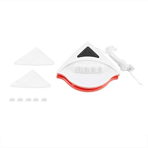 Limpiaparabrisas de vidrio de doble lado con forma de triángulo para ventanas de doble acristalamiento Ajuste de (15-24mm-rojo)