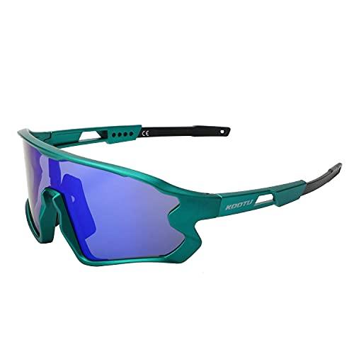 SAVADECK - Gafas de sol unisex para ciclismo, gafas de sol polarizadas con protección UV-400 para ciclismo, senderismo, correr, pescar (Azul)