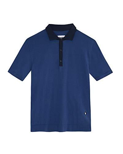 Brava Fabrics - Polo para Hombre - Camiseta Polo - 100% Algodón Orgánico - Modelo Navy Sky