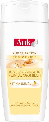 Aok Feuchtigkeitsspende Reinigungsmilch mit Mandelöl, 3er Pack (3 x 200 ml)
