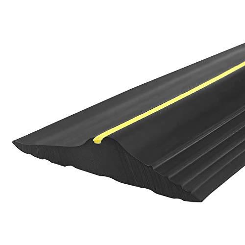 Universal Garage Door Bottom Threshold Seal Strip Garage Door Bottom Weatherproof Strip Easy Cut DIY Rubber Weather Stripping Replacement. (16 Ft)