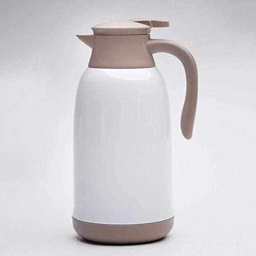 Olla de aislamiento de acero inoxidable, con revestimiento de vidrio aislante, a prueba de fugas, jarra térmica para zumo/leche/té/café (agua)