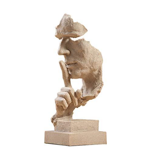DECORACION FHW Escultura Artesanía Creativa Simple Resumen Salón Vinoteca Escritorio 13 * 12 * 34 cm (Color : B)