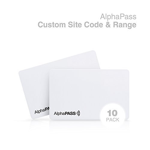 Same Day Custom Programmed AlphaPass PVC Proximity Card for Access Control. Replaces HID 1386 ISOProx II Cards. Standard 26 bit H10301 Format. Choose Your Facility Code & Range. (100 Pack)