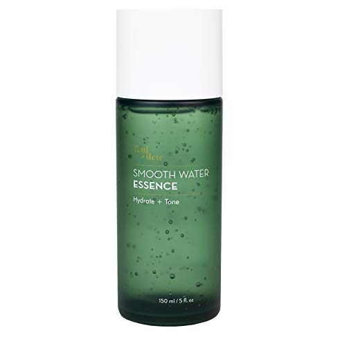 Feuillete Smooth Water Essence, 150 ml - Facial Essence Toner | Hydrating, Brightening, Pore Refining, Anti Aging, Balancing | Korean Skin Care | For Dry, Oily, Acne Prone, Sensitive Skin | Oil Free, Fragrance Free
