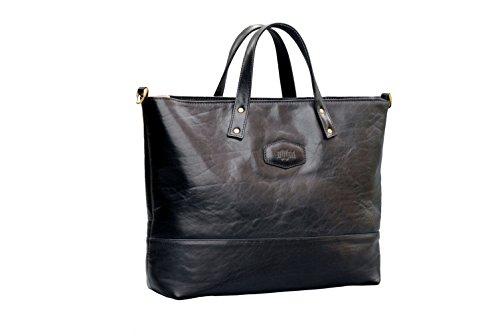 Frauen Leder Handtaschen Tote Schultaschen Schulter Beutel Geldbeutel Black