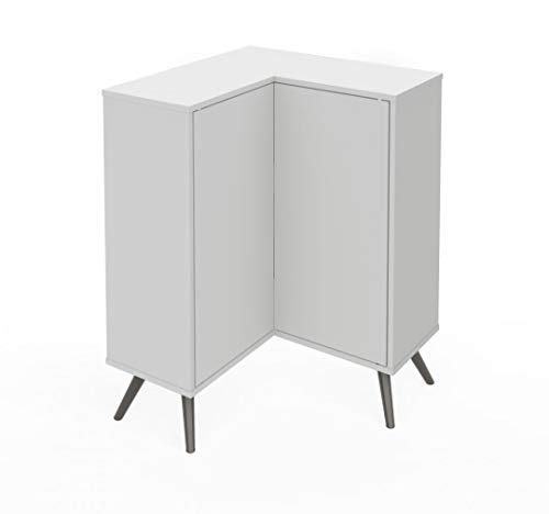 Bestar Corner Storage Cabinet with Metal Legs - Krom