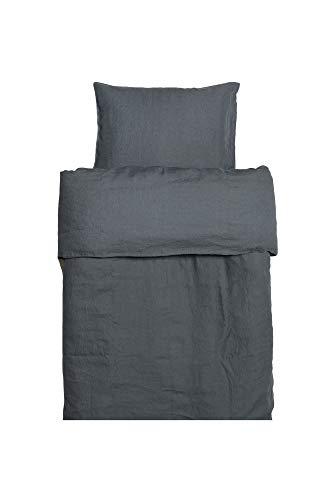 Himla Bettbezug Sunshine - 200x200 cm - Farbe: Lyric - Petrol - 100% gewaschenes Leinen - pflegeleicht - bügelfrei - div. Farben und Größen