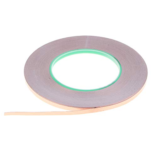 50m Cinta de Cobre con Adhesivo Conductor para Vidrio Manualidad Soldadura Reparación Eléctrica - 5mm