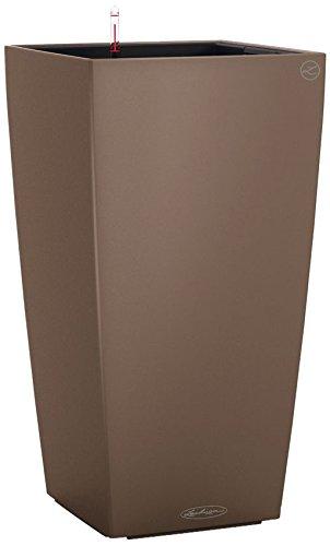 Lechuza Cubico Color 30 Set Completo Vaso in Resina per Piante , colore Noce Moscata