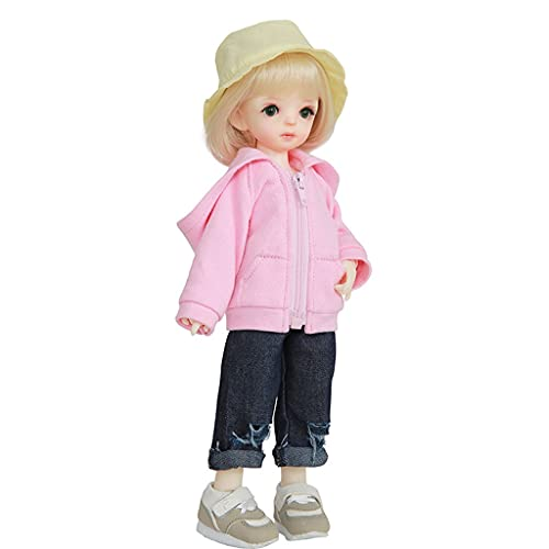 BJD Doll 10 Inch 1/6 SD Dolls for Age 3 4 5 6 7 Years Old Kids Dolls for Girls Baby Cute Doll Toy with Clothes and Shoes Birthday Gift for Girls - Haru Toys